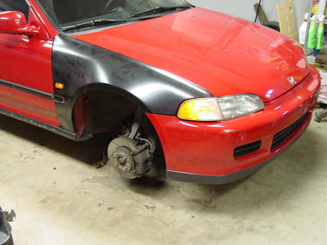 I had ruined the front fenders the year before so I ordered a pair of new fenders from Password JDM with JDM side markers. Why not?