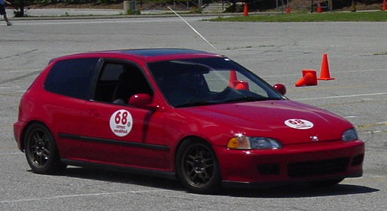 Tearing it up at a local autocross!