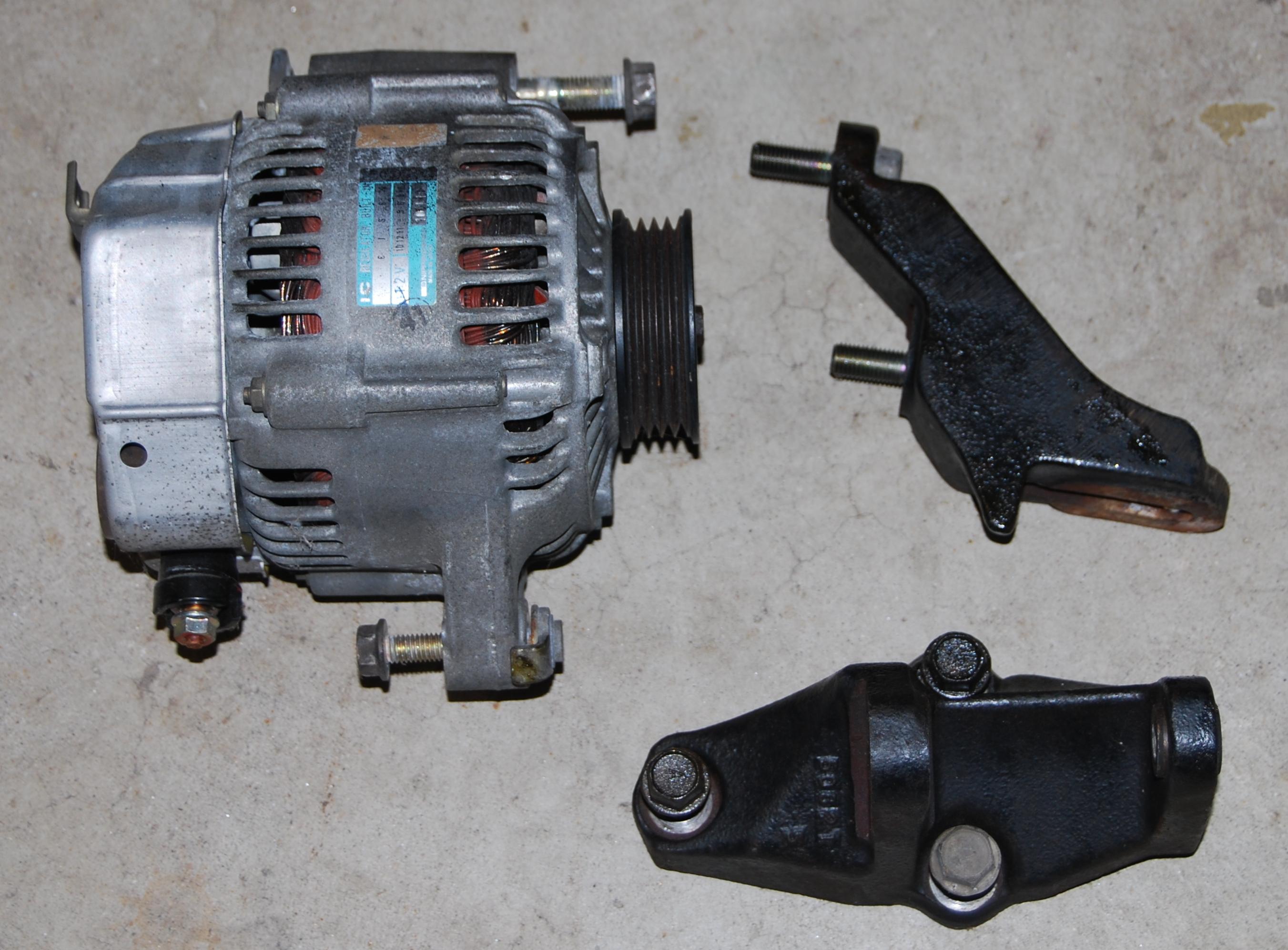 B Alt Mount on 94 Honda Civic Alternator