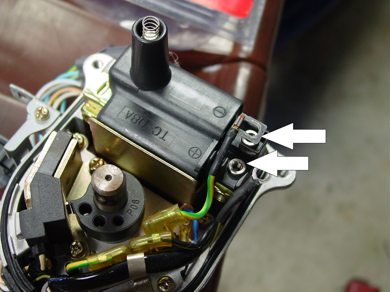 civic integra msd external coil conversion cut the original connectors to the coil and strip back the insulation