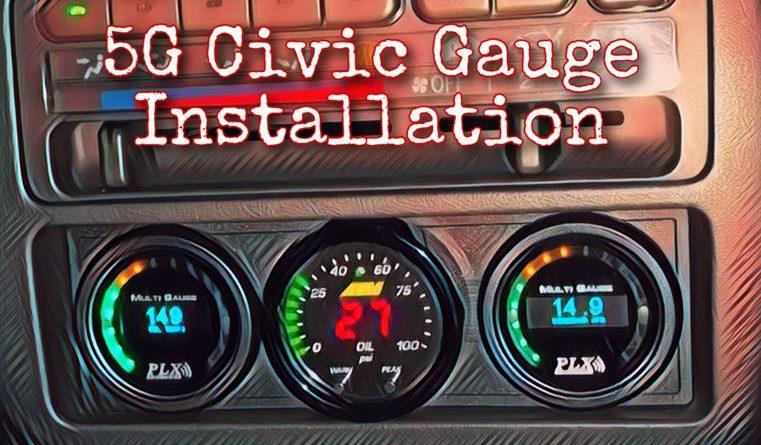 5G (EG) Civic Gauge Install