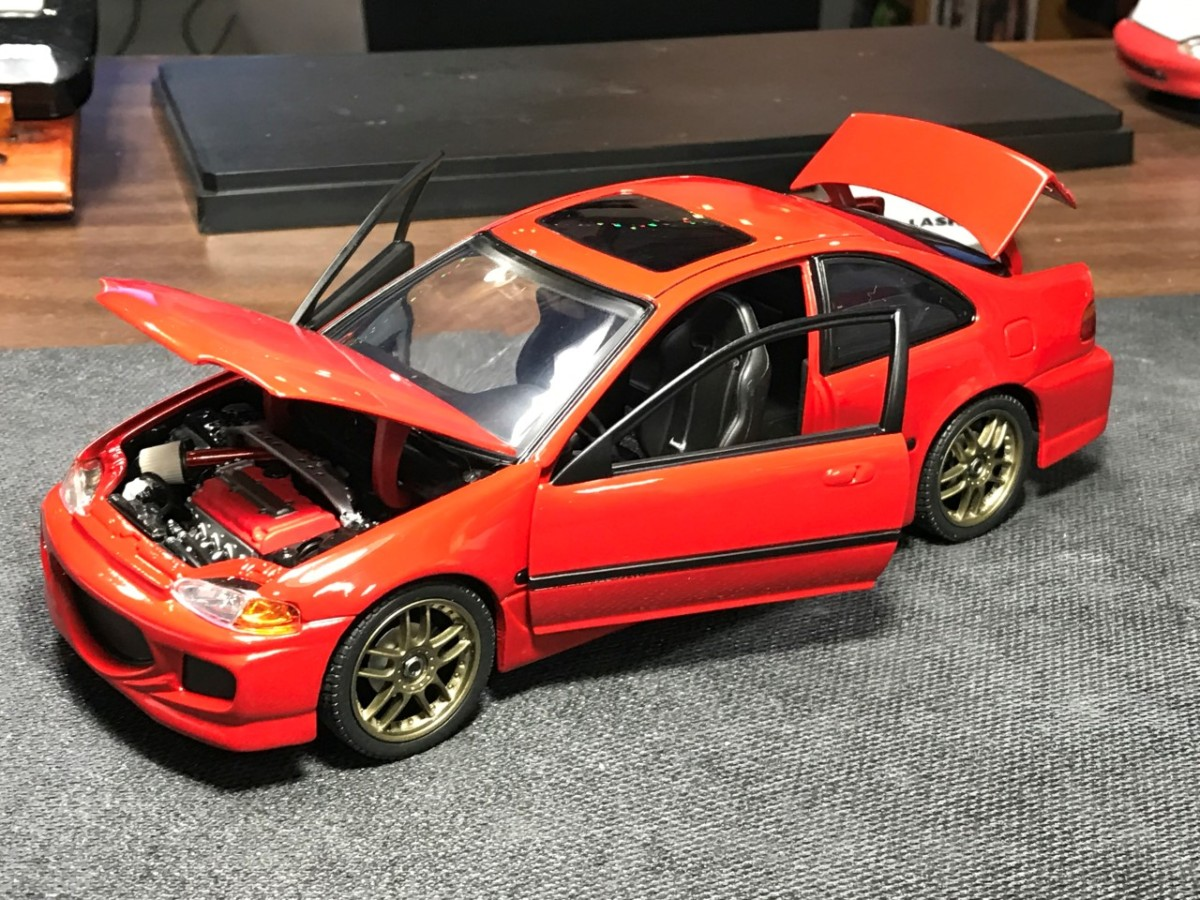 1 18 Scale Diecast F Amp F Civic Revell Scale Importnut Net